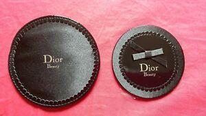 54912dfc106 Miroir de sac Dior noir avec pochette. Diametre de 8 cm. neuf