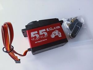 1//5 Large 55kg Metal Digital Steering Servo For  HPI rovan km Baja 5B 5T baja
