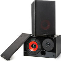 Deco Home DHPAS100 Passive 140W Bookshelf Speakers, 5in. Woofer with Dome Tweeter