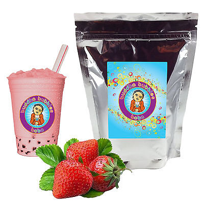 Strawberry Boba / Bubble Tea Powder by Buddha Bubbles Boba (1 Pound | 453 Grams)