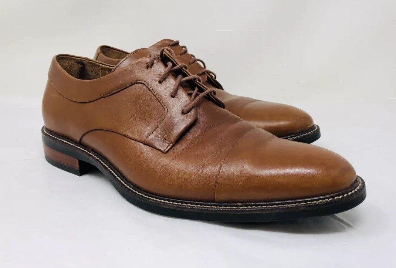 Cole Haan Men's Warren Cap Toe Derby Size 9 British Tan Leather MSRP