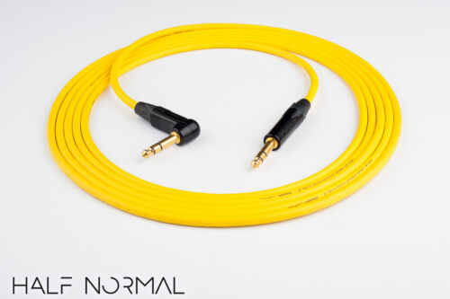"8/' Mogami 2549 Standard Balanced Neutrik Gold 1//4/"" 90 TRS to 1//4/"" TRS Yellow"