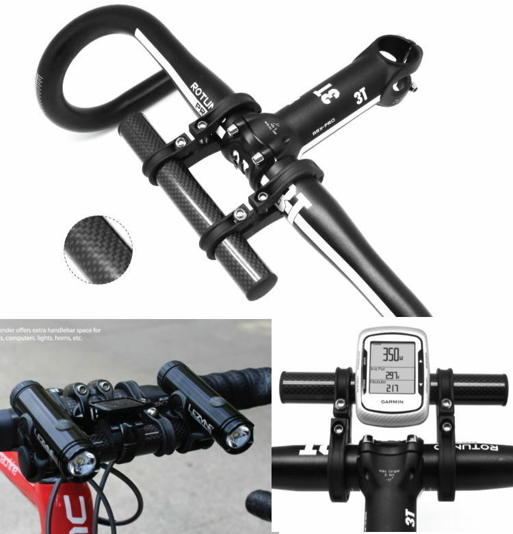 Bike  handlebar carbon extender handle bar mount stand holder phone GPS lights  no minimum