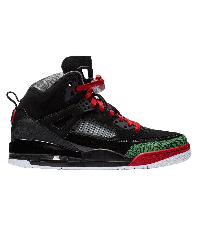 Jordan Spizike Mens 315371-026 Black Varsity Red Classic Green Shoes Size 10.5