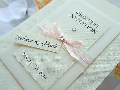 "Handmade Luxury Wedding/Evening Invitations ""LUCKY LOVE"" - Aviforis - SAMPLE"