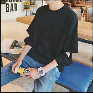 1pc-Summer-South-Korea-Loose-Round-Collar-Half-Sleeves-Men-039-s-Thin-T-shirt