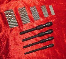 New 4Pc Pin Vice & 50Pc Micro Drills Craft Hobby Model Tools