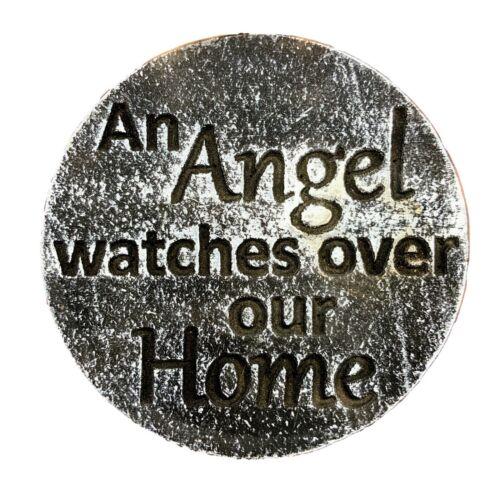 "Angel Plastic religious plaque mold garden ornament mould 7.75/"" x 3//4/"" thick"
