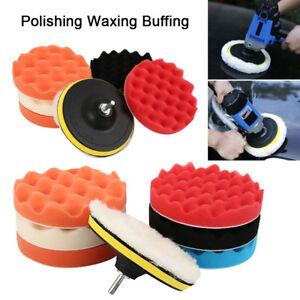 8x 6 polissage cirage tampons ponge kit set pour perceuse. Black Bedroom Furniture Sets. Home Design Ideas