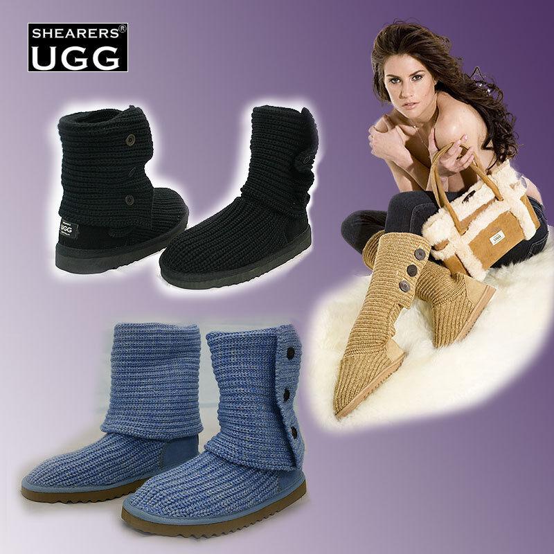 VENTAS DE LIMPIEZA Australia ZAPATILLAS Ugg Zapatos Plantilla de lana Cardy Botas largas / cortas