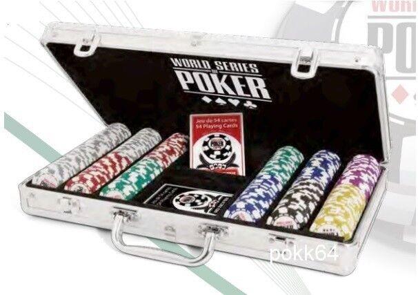 Mallette WSOP 300 jetons World Series Poker Clay composite + 2 jeux cartes 00125