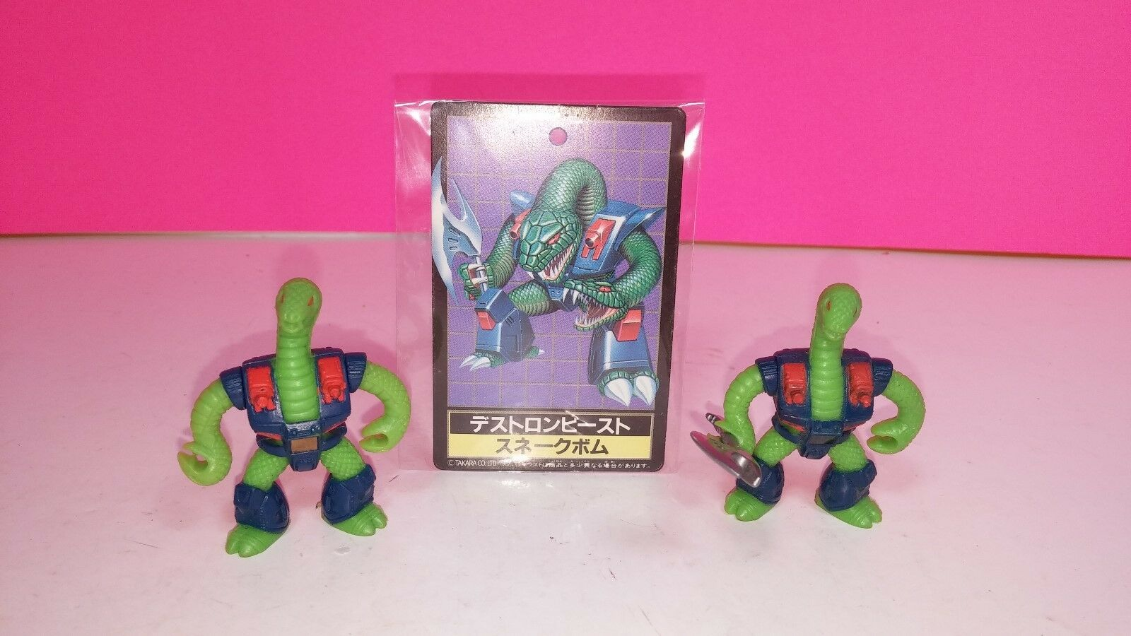 Takara Battle Beasts Triple Threat Snake Vintage Action Figure Lot with Card