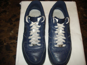 6ddfd67f52e56 Men's Nike Air Force 1 AF1 Shoes Sneakers 315122-411 Navy Blue/White ...