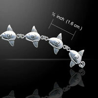 Ocean Life Sunfish Link Sterling Silver Bracelet Peter Stone Unique Fine Jewelry