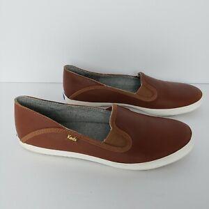 Keds-Women-039-s-Crashback-Leather-Fashion-Sneaker-Cognac-Brown-Size-8