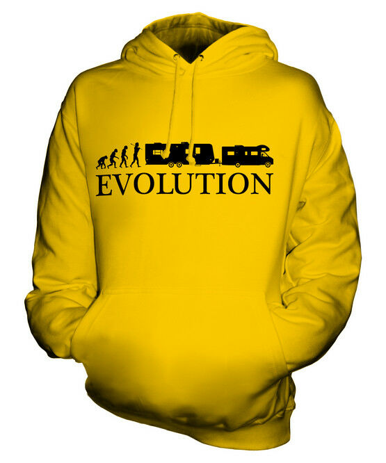 RV EVOLUTION OF MAN UNISEX HOODIE TOP GIFT CAMPER CAMPING