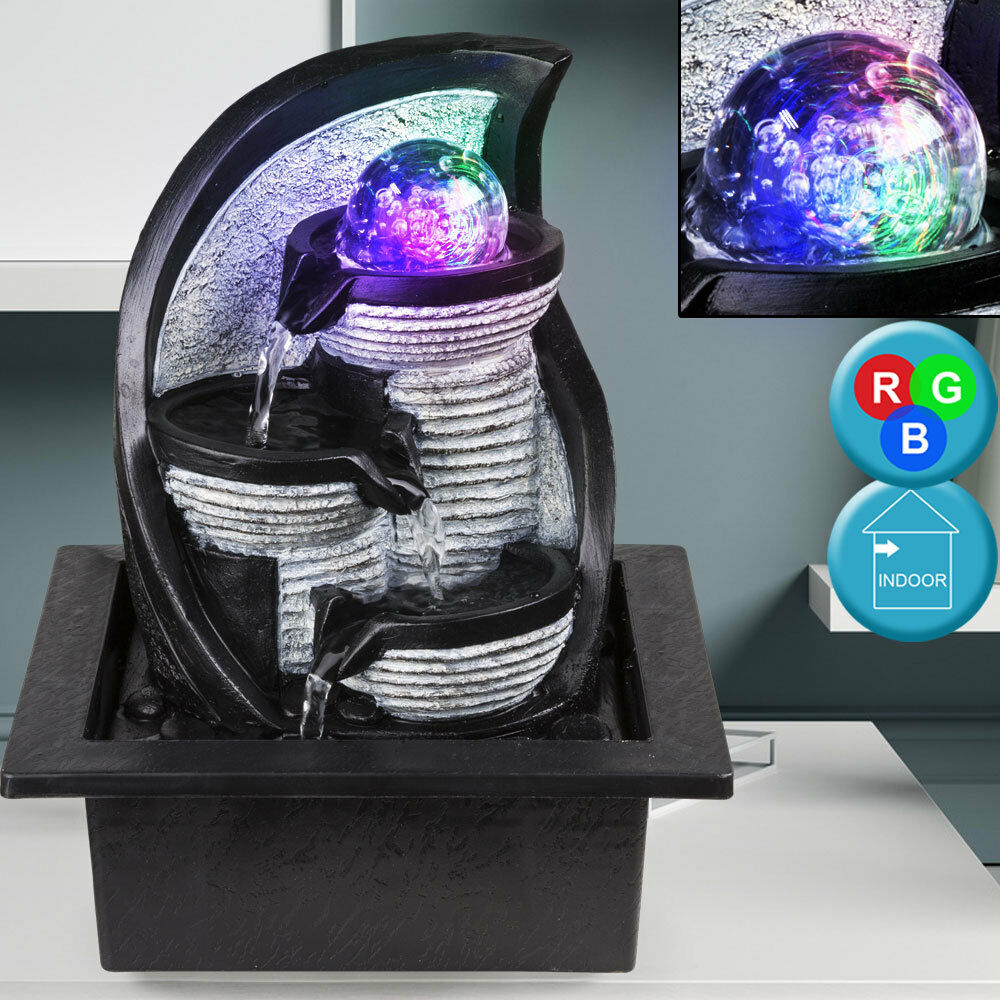 Design LED Table Room Fountain Water Game RGB Farbe Changing Decoration Ball