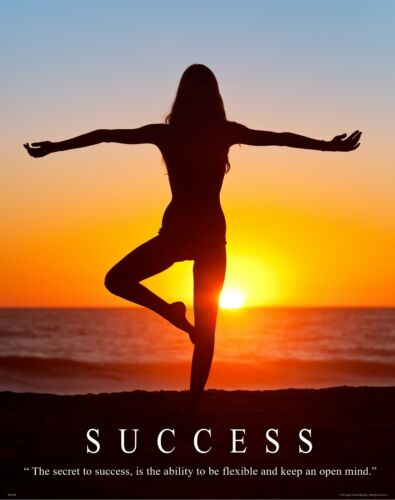 "Yoga Motivational Poster Art Print 11/""x14/"" Workout Pants Mat Success  MVP461"