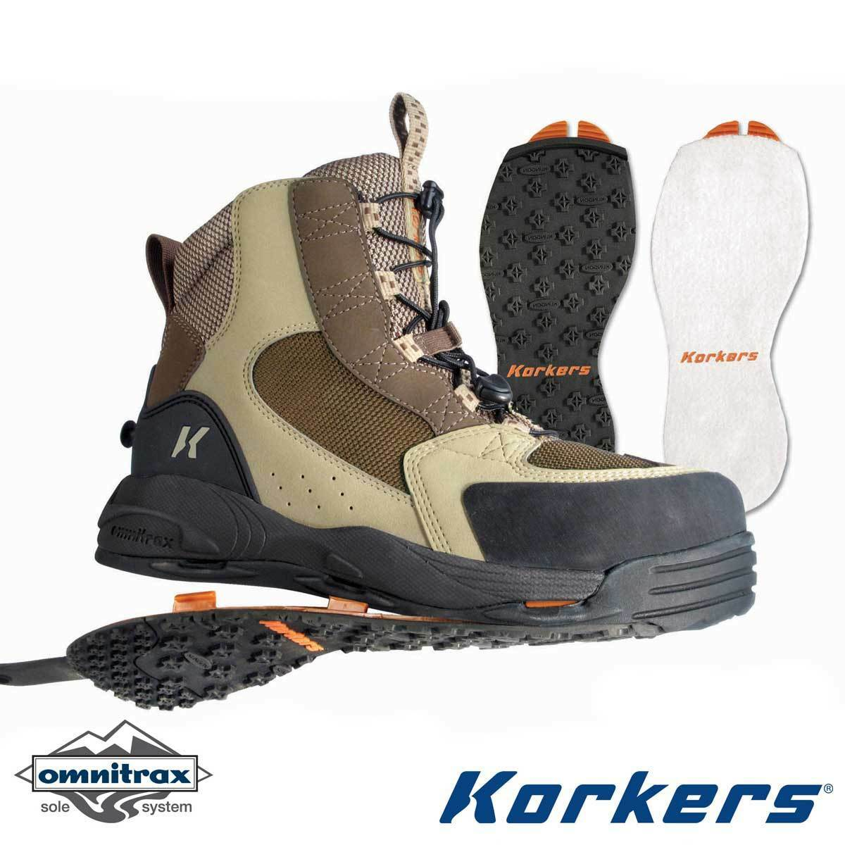 NEW -  Korkers Redside Wading Boots,  Felt Kling-On Sole-11 - FREE SHIPPING   clearance