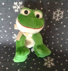 RUSS-SHINING-STARS-Frog-soft-Beanie-plush-Toy-8-034-Tall-Immaculate-condition