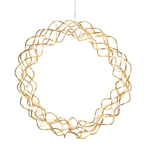 LED Kranz Ø 30cm 45cm chrom-silber messing-gold Lichtkranz Türkranz IP20