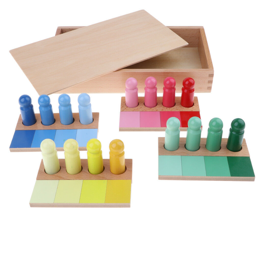 Prettyia Montessori Wooden Sensorial Toy -Gradient color Kid Educational Toy