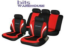 Hyundai i10 i20 i30 i40 SPORTS Fabric Car Seat Covers Full Set in BLACK & RED
