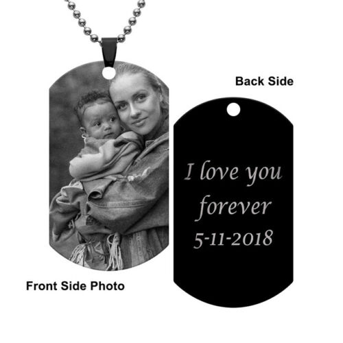 Men Military Blank Tag Chain Army Stainless Necklace Women Steel Dog Pendant