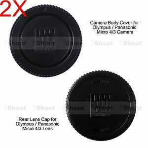 2x-M4-3-Rear-Lens-Cap-Micro-4-3-Camera-Body-Cover-for-Olympus-PEN-EP5-EPL1-EPL3