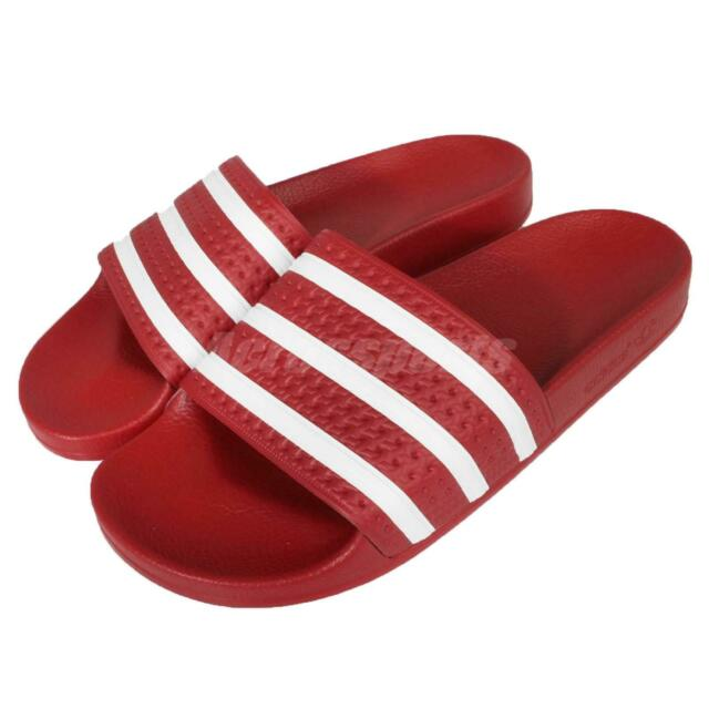 ce2f3906 adidas Performance Adilette Red White Mens Sports Sandals Slides Slippers  288193
