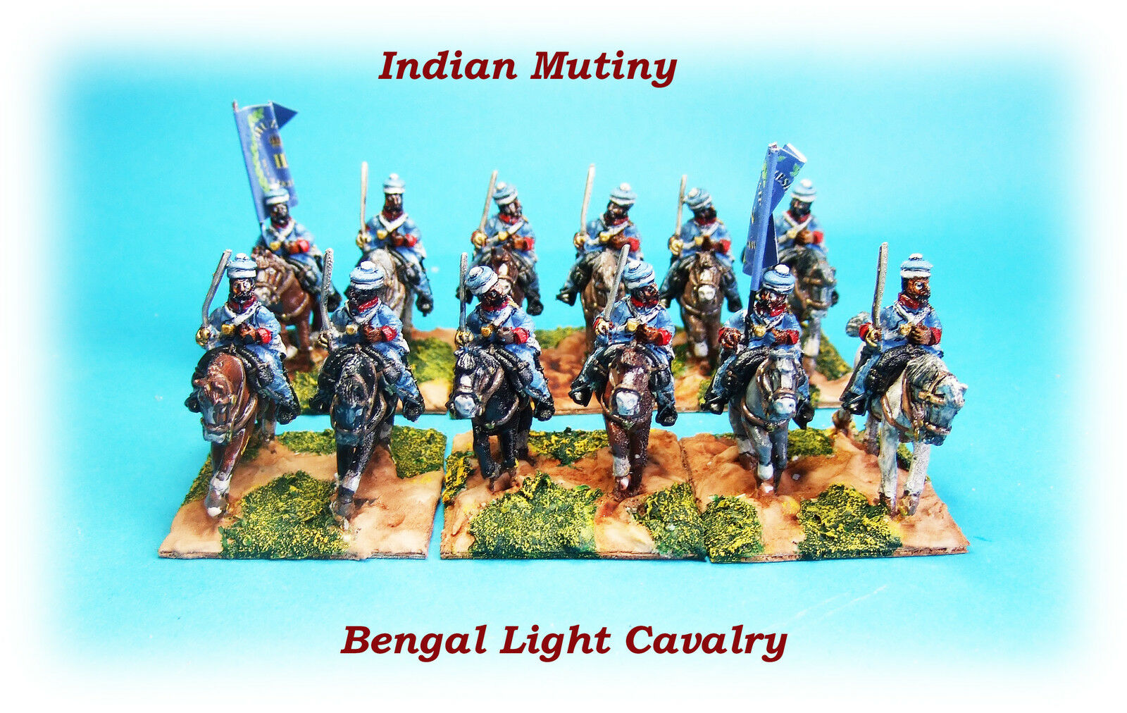 Indian Indian Indian Mutiny - Bengal Light Cavalry Unit x 12 46de7d