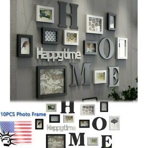 Details About 10pcs Family Photo Frame Picture Sticker Home Hanging Wall Collage Decor Wedding