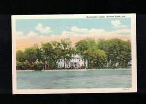 1960-Kosciuszko-Lodge-Winona-Lake-Indiana-Postcard