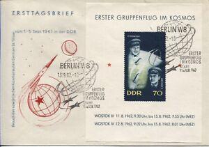 DDR Block 17 auf Ersttagsbrief (FDC) 1962 absolut top erhalten (B07630)