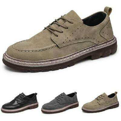 Details about  /Brogue Mens Business Leisure Faux Leather Shoes Work Office Oxfords Wing Tip L