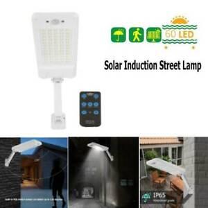 Stradale-Faretto-Energia-Solare-60-LED-Fotovoltaico-Lampada-Luce-Sensore-Bianco