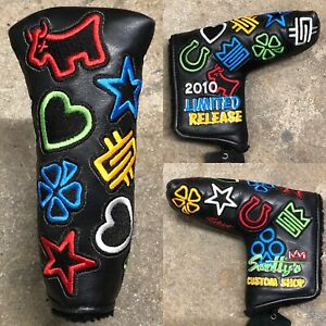 SCOTTY-CAMERON-2010-THE-WORKS-CUSTOM-SHOP-STAMPS-LIMITED-LEATHER-HEADCOVER-NEW