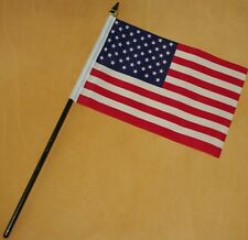 USA Stars and Stripes Small Flag 6x4 Hand Waving New Free Postage Uk