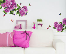 Wall Stickers Flowers Purple Antique Peony For Living Room 6900045
