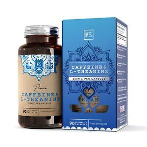 Cafeine-amp-L-Theanine-350mg-90-Capsules-Pas-D-agent-De-Charge-Ou-De-Liant