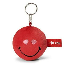 Nici 35694 Smiley Rot - I LOVE YOU Schlüsselanhän<wbr/>ger 6 cm rund