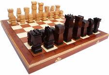 Schach, Edles Schachspiel ORAWA, Schachbrett 50 x 50 cm Holz, Handgeschnitzt