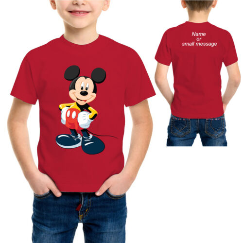 Kids Boys Children T shirt  Mouse T-shirt Cute Cartoon Gift Tee Top