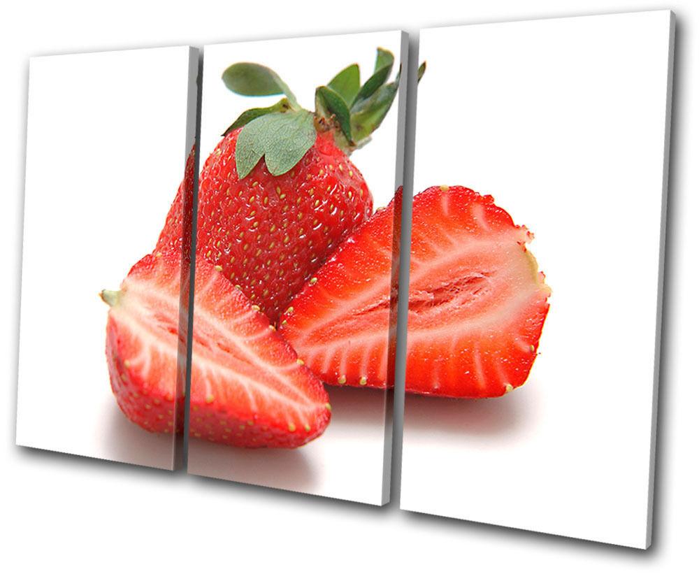 Food Kitchen Strawberries TREBLE Leinwand Wand Kunst Bild drucken