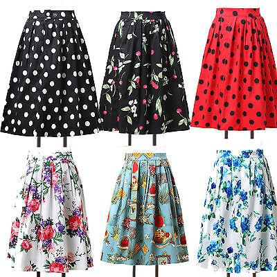 Jive Swing 50s 60s VINTAGE Style Skirt Rockabilly Evening Party Dress Semi Skirt