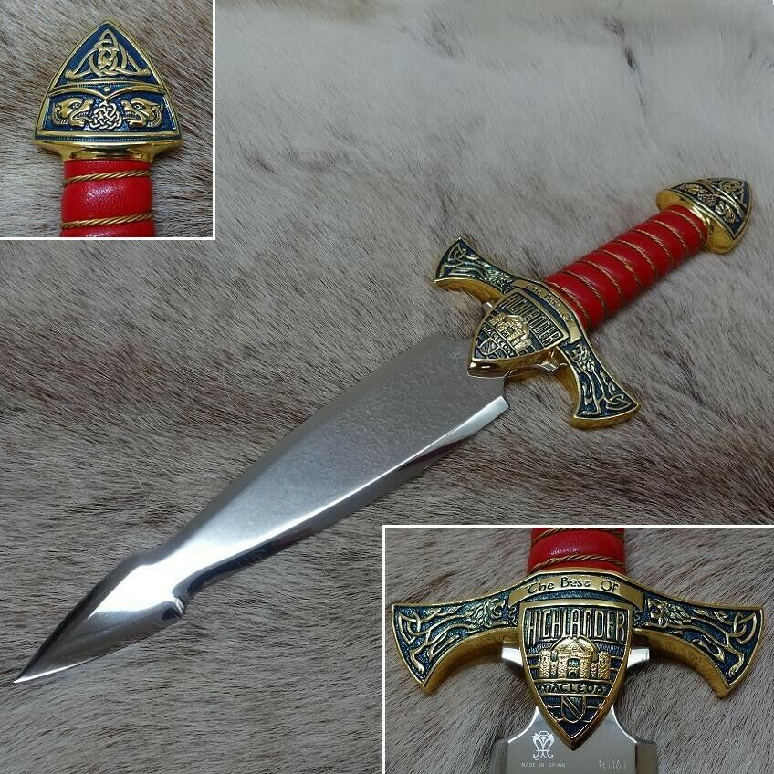 Officially Licenced LIMITED EDITION Marto Best of Highlander Dagger in gold