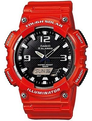 Casio Original New AQ-S810WC-4A Digital Analog Watch Tough Solar RED AQ-S810