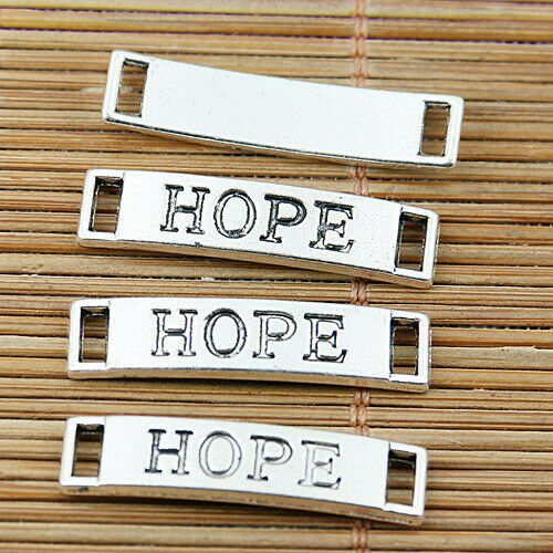 12pcs Tibetan silver hope beaded connectors EF1892