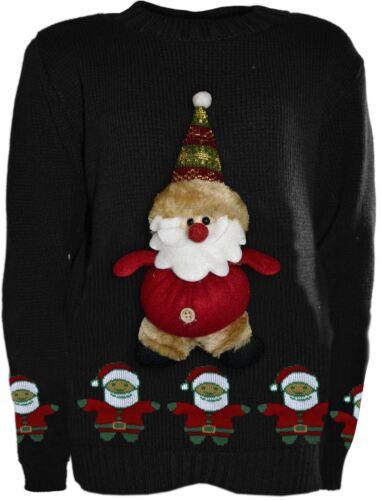 RAGAZZI Ragazze 3D Teddy novità Kids Natale Unisex Invernale Lavorato A Maglia Sweater ponticelli