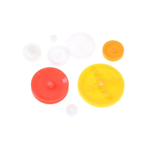 7PCS Motor Synchronous Belt Plastic Pulley Wheel for DIY Toy Car Accessories WA